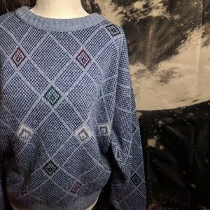 Vintage 80's Grandpa Oversized Knit Sweater
